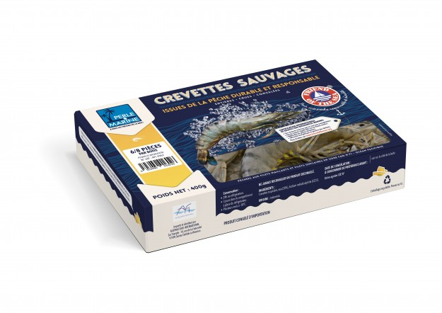 Crevettes sauvages AFI - Boîtes 400gr NW PECHE DURABLE & RESPONSABLE - PERLE MARINE FRIEND OF THE SEA 2016